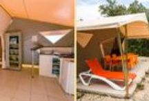 Les tentes à louer du Domaine de la Sablière / Les locations sur le camping naturiste du Domaine de la Sablière