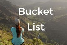 Bucket List / The world has a lot to offer. Here's a list of some of the most amazing places you should put on your bucket list. Time to go around the world and discover those incredible landscapes.