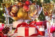 Mesas Decoradas Natal / Veja muito mais fotos, dicas e informações técnicas de cada MESA no blog Decor Salteado! É só clicar nas imagens! ; - )