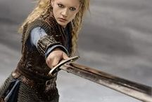Shieldmaidens / Scandinavian, Germanic and Anglosaxon warrior-women, in history and mythology (Valkyries, warlike goddesses). Empowered aspects of the role of Viking/Germanic women.  Also in the Scandinavian and Anglosaxon stuff board. Éowyn the shieldmaiden of Tolkien's world has her own board :).