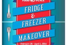 Fridge & Freezer Makeover / Tip and tricks to makeover your fridge and freezer.