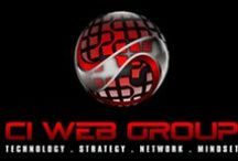 CI WebGroup Logos / DNET TV, 12Steproadmap.com, AchieveAccelerated.com, CI Webgroup, JenniferBagley.com.  A collection of our company logos and designs we created for our clients.