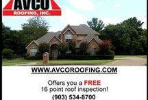 Roofing, Roof Repair, Reroof, New Roof, Free Estimates / www.avcoroofing.com Professionally roofing & seamless rain gutter created & installed. / by Avco Roofing Inc.