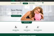 Poyer Insurance Industry Custom Web Design / This is a collection of Web Designs , Homepage Designs and Interior Pages Designs for our client Geoff Poyer. Professionally dones by CI WebGroup.