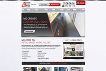 Astro Sheet Metal Industrial Custom Website / Welcome to our collection of Custom Website, Interior Pages, Banners and Social Media Designs for a few of our client. Professionally done by CI WebGroup