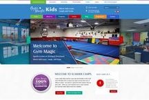 Gym Magic Custom Web Design / Welcome to our collection of Custom Website, Interior Pages, Banners and Social Media Designs for our client Gym Magic. Professionally done by CI WebGroup.