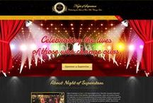 Night of Superstars Custom Web Design / CI WebGroup welcomes you to our collection of web designs, interior pages, cover photos and banner pages for social media for our client. Professionally done by CI WebGroup.