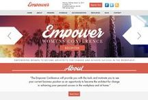 Empower Womens Conference Custom Design / CI WebGroup welcomes you to our collection of Web Designs, Interior Pages, Custom Social Media Banners and Cover Photos for our client Sharman Dow. Professionally done by CI WebGroup.