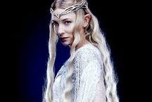Tolkien Women: Galadriel / Probably my favourite Tolkien female character. She's incredibly empowered and powerful, strong, brave, wise, adventurous, and all in all awesome :) <3 Plus her relationship with Celeborn is probably the most egalitarian one in the Tolkien legendarium.  Her warrior, athletic, erudite and adventurous aspects, and her sheer power, are severely underrated, in my opinion. She's way more than her Mirror, as the Hobbit films have begun to show.