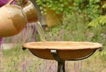 bird houses&bird baths&things to garden