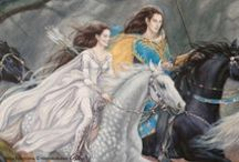 Tolkien women - Aredhel Ar-Feiniel / The single huntress and adventurer of the Noldor. I love her characterization but hate that Tolkien made her enter such an abusive relationship with the rapey jerk Eöl. Way to shatter an amazingly strong and interesting female character :/
