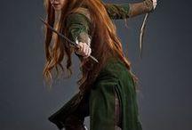 Tolkien women - Mirkwood Elves / -Elvenqueen - All headcanons and film references. I love the warrior!Elvenqueen headcanon. Genderbent!Thranduil as the Elvenqueen on her own is also included here. -Tauriel -Other Mirkwood Elven women