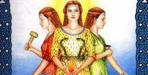 Goddesses - Brighid / -Mythology: Celtic (Ireland/Britain) / -Festivity: Imbolc (1-2 February) / -Other names/variants: Brigit, Brigid, Bríd(e), British goddess Brigantia / Solar triple goddess of crafts, healing+fertility and music+poetry. Protector warrior aspect (esp. as Brigantia). / -Inspiration for the later St Brighid of Kildare