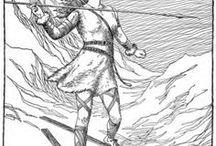 Goddesses - Skadi / -Mythology: Norse/Scandinavian /Other names: Skaði, Skade/ -A Jötunn (ice giantess), huntress goddess associated with bowhunting, skiing, winter, and mountains.