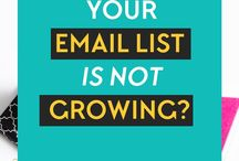 Email Marketing Tips / Email Marketing tips for bloggers and small businesses. How to grow an engaged email list.