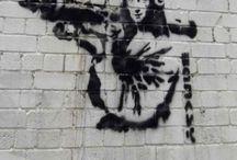 stencil and street art