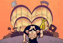Omar Momani и карикатуры других художников