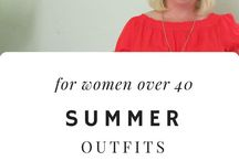 Summer Outfits (cool!) / Summer fashion for plus-size women with an apple shape who are stylish over 40! I'm showing off my summer outfits over at whenthegirlsrule.com  #plus size #pearshape #petite #largebust #largestomach
