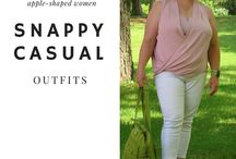 Casual Outfits (comfy!) / Casual, weekend wear for women over 40 who are apple-shaped, plus-sized and want comfort and style! See more at whenthegirlsrule.com  #casual #forwomen #weekendwear #momstyle