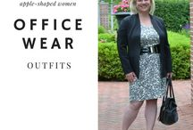 Office Outfits (work it!) / Stylish and work appropriate outfits for women over 40 who have an apple shape and killer style! See how I dress my apple shape at whenthegirlsrule.com!  #officewear #corporatestyle #work #classic #sophisticated