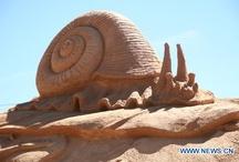 zandsculturen /  sand sculpture