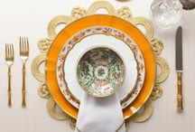 Luxury Dinnerware & Place Settings / A greasy spoon or your theatrical dining room, a park bench or the sundeck on your yacht – each is a stage to be set and the tableware found in each location reflects the surroundings you are in.