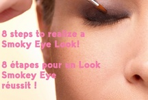 Smoky Eyes / Look Smokey  / Discover 8 single steps to achieve a Smoky Eye Look! Découvrez les 8 étapes pour un Look Smokey réussit !