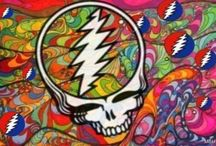 """🌻✌Deadhead Forever🌼🎼🌞The Grateful Dead🎤🎹🎸🍄 / My love for the Grateful Dead!!.. 50 years of my favorite band! """"Box of Rain will ease the pain and love will see you through""""♡♡☆☆♡☆ / by Tara Sparks"""