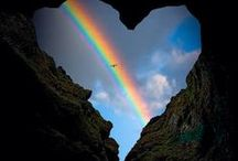 Rainbows! / Somewhere over the rainbow skies are blue and the dreams that you dare to dream really do come true.....