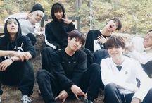 BTS(방탄소년단) / Members:   —Kim Namjoon(RM)-rapper&songwriter —Kim Seokjin(Jin)-vocalist —Min Yoongi(Suga)-rapper&songwriter —Jung Hoseok(J-Hope)-rapper —Park Jimin-vocalist —Kim Taehyung(V)-vocalist --Jeon Jungkook-vocalist