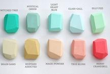 Palettes / inspiring color palettes