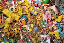 Objects and installations by Denise J. Reytan / Objetcs and installations  composed of many lovingly collected, beautiful, colorful and funny things.