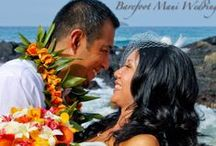 Bouquets / Tropical bouquets add color to your Maui beach wedding!
