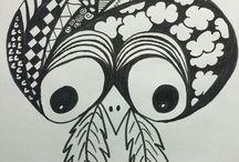 Doodles / Zentangle Tegning/Drawing / Art