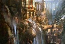 Fantasy Lands in Paint / Inspiration for writing fantasy, in the form of art!