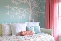 Bedroom - teenage (turquoise/pink) / Teenage girl bedroom