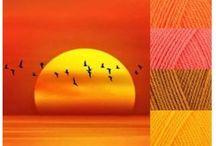 Colorful inspiration to knit and crochet / Farverig inspiration til strik 0g hækling