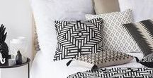 Bedroom - Black and white African inspired / Black and white African inspired with gold / brass / copper