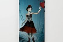 Iphone & Ipod skins & cases / Personalize your mobile devices with art from Britta Glodde. Skins are thin, easy-to-remove, vinyl decals for customizing your device. Skins are made from a patented material that eliminates air bubbles and wrinkles for easy application.