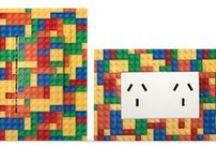 Llave de luz Zen Concept Bricks / Kalop, electricidad integral, llave de luz, habitacion de niños, lego, ladrillos, bloques, juego, detalle, infantil