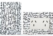 Llave de luz Zen Concept Letras / llave de luz, Kalop, electricidad integral, letras, escritura, caligrafia, decoración