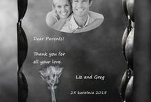 Wedding / Thank-you gift for Parents, Wedding picture - all in crystals engraving. www.crystals3d.com