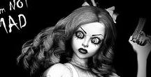 Creepy Girls / Creepy, spooky and weird characters and situations.