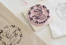 Pearls to Pigeons custom stamps / Hand carved stamps portrait, logos and quotes