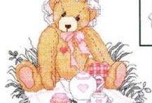 Punto croce orsi