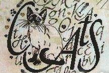 Punto croce gatti