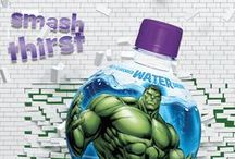 AquaBall Marvel Labels / Drink a fun, zero sugar water drink like AquaBall instead of giving your kids sugary treats! Our grape naturally flavored water features Marvel's Captain America, Hulk, Iron Man and the Avengers Assemble team which are great for parties or every day fun.