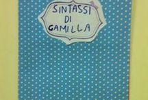 Lapbook di sintassi / Lapbbook ideato e prodotto da me.
