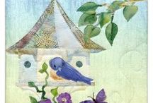 Home Tweet Home / Home Tweet Home celebrates colorful avian friends and their creative hideaways. Make it as individual blocks stretched over canvas, or create the full pieced quilt.