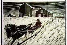 Martti and Satu Northern collection / real authentic Yule in Lapland. Art and literature of Tornevalley. Village History. retro vintage photos